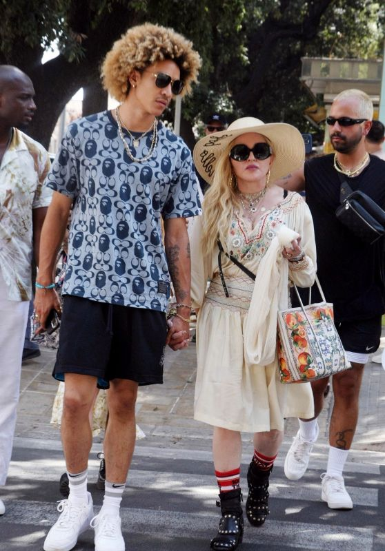 Madonna and Ahlamalik Williams Celebrate Her 63rd Birthday - Lecce 08/17/2021