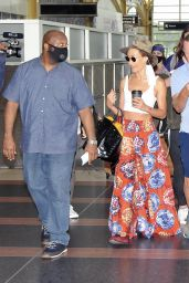 Maggie Q - Arriving to Reagan National Airport in Arlington 08/18/2021