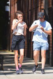 Margaret Qualley and Her Boyfriend Jack Antonoff - New York 08/14/2021