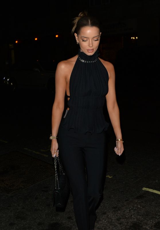 Maura Higgins Night Out Style - Novikov in Mayfair, London 08/23/2021