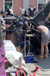 "Melanie Scrofano - ""The Hardy Boy"" Filming Set in Toronto 08/26/2021"