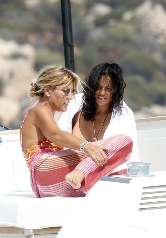 Michelle Rodriguez and Raffaella Zardo - Cruise Around Maddalena