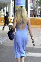 Millie Gibson in a Blue Dress - Manchester 08/12/2021