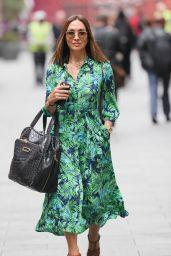 Myleene Klas in a Floral Green Sress - Smooth Radio in London 0825/2021