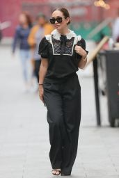 Myleene Klass in a Sparkling Monochrome Top and Black Trousers - London 08/26/2021