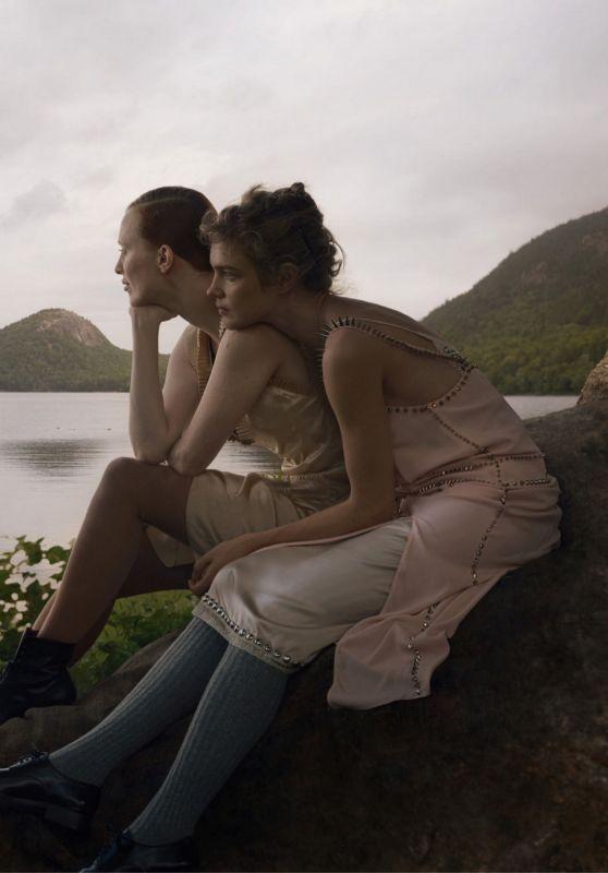 Natalia Vodianova and Karen Elson - Vogue US  September 2021 Issue