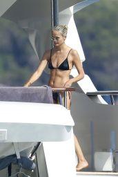 Natasha Poly on a Yacht in Sardinia 08/14/2021