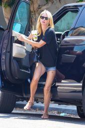 Nicky Hilton in Denim Shorts and a Black Tee - Malibu 08/15/2021