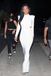 Nicole Scherzinger in a White Dress - Los Angeles 08/08/2021