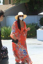 Nicole Scherzinger – Leaves Jennifer Klien's Day of Indulgence in Brentwood 08/15/2021