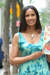 Padma Lakshmi - Signs Her New Children