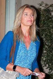 Paulina Porizkova on Melrose Avenue in West Hollywood 08/23/2021