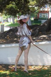 Phoebe Price in a Park in Beverly Hills 08/24/2021
