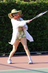 Phoebe Price - Poses and Hits Tennis Balls 08/02/2021