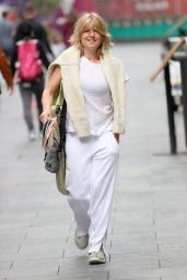 Rachel Johnson in Comfy Outfit at LBC Studio in London 08/16/2021
