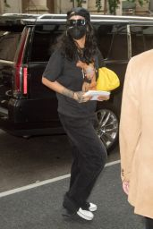 Rihanna in Casual Outfit - New York 08/04/2021
