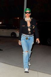 Rihanna Night Out Style - New York 08/15/2021