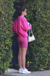 Sara Sampaio in a Pink Workout Outfit - West Hollywood 08/24/2021