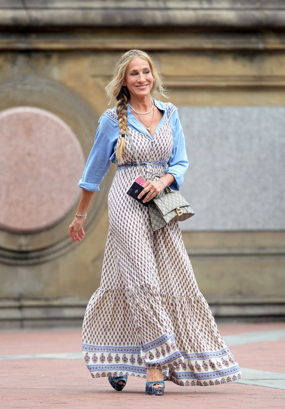 """Sarah Jessica Parker - """"And Just Like That..."""" Set in New York 08/09/2021"""