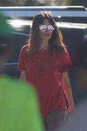 Sarah Shahi Wearing Heart Shaped Sunglasses - LA 08/02/2021