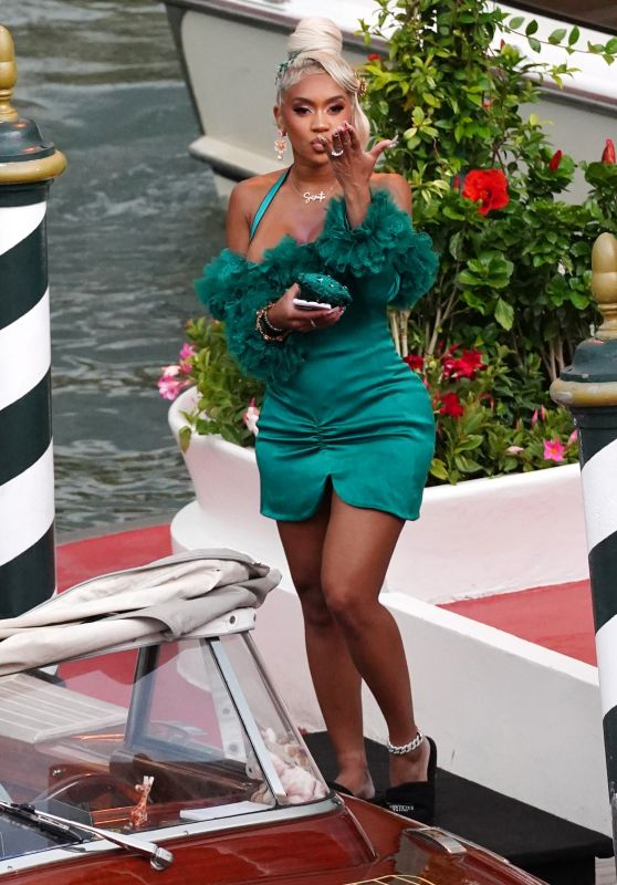 Saweetie at the Excelsior Hotel in Venice 08/30/2021