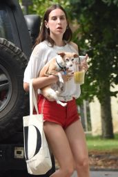 Scout Willis in a Red Shorts and Matching Cowboy Boots - Los Angeles 08/25/2021