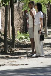 Shanina Shaik - Walking With Her Boyfriend in Tulum 08/13/2021