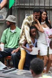 """Teyana Taylor and Will Catlett - """"A Thousand and One"""" Set in Harlem, Manhattan 08/09/2021"""