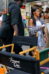 """Teyana Taylor at the """"A Thousand and One"""" Set in Manhattan 08/04/2021"""