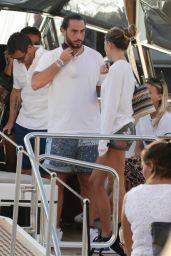 Thylane Blondeau on a Luxury Yacht in Saint Tropez 08/12/2021
