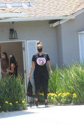Tyra Banks – Leaves Jennifer Klien's Day of Indulgence in Brentwood 08/15/2021