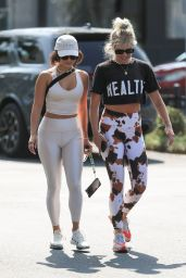 Vanessa Hudgens amd GG Magree at DogPound Gym in West Hollywood 08/24/2021