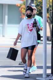 Vanessa Hudgens and GG Magree - Visiting a Spa in LA 08/26/2021