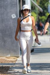Vanessa Hudgens in Workout Gear at DogPound Gym in West Hollywood 08/24/2021