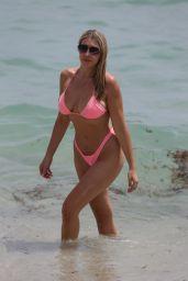 Victoria Larson in a Bikini - Beach in Miami 08/22/2021