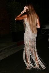 Winnie Harlow in Diamond Glittered Gown - TAO in LA 08/04/2021
