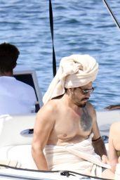 Zoe Saldana on Yacht in Italy 08/16/2021