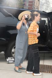 """Zoey Deutch and Tia Hodge - """"Not Okay"""" Filming in New York 08/10/2021"""