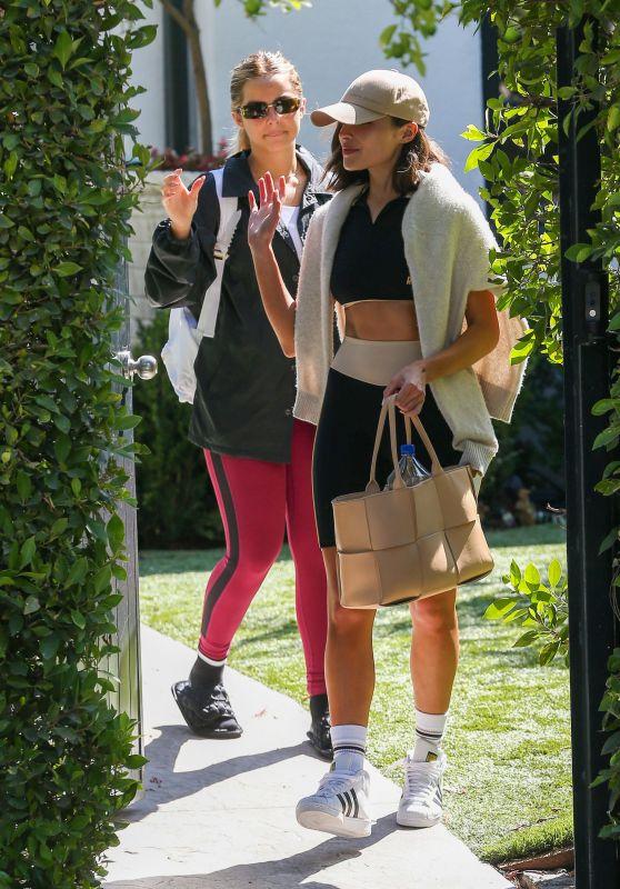 Addison Rae and Olivia Culpo at a Pilates Class in LA 09/22/2021