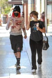 Addison Rae and Omer Fedi at the Century City Mall in LA 09/02/2021