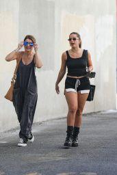Addison Rae Wears Black Shorts Shorts - Malibu 09/03/2021