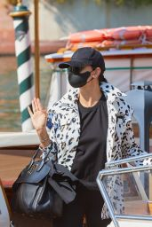 Adriana Lima - Arrives at 78th Venice Film Festival