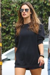 Alessandra Ambrosio in Workout Outfit - Los Angeles 09/02/2021