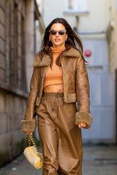 Alessandra Ambrosio is Stylish - Paris 09/29/2021