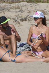 Alessandra Ambrosio - Plays Volleyball on Santa Monica Beach 09/18/2021
