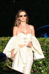 Alessandra Ambrosio wears Shoulder-less Dress and Heels - Malibu 09/04/2021