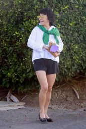 Alia Shawkat in a Casual Monochrome Outfit - Los Angeles 09/25/2021