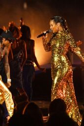 Alicia Keys – Performs on stage at the 2021 MTV Video Music Awards in New York