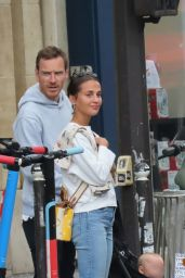 Alicia Vikander and Michael Fassbender - Out in Paris 08/28/2021