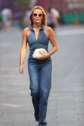 Amanda Holden in a Denim Jumpsuit - London 09/07/2021